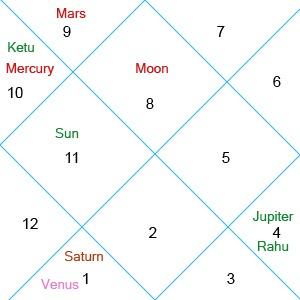Horoscope of an millionaire