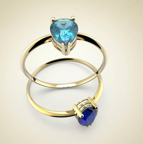Combination of gemstones